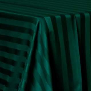 """Poly Satin Stripe Hunter Green 54"""" Square"""