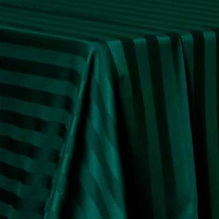 Poly Hunter Green Satin Stripe