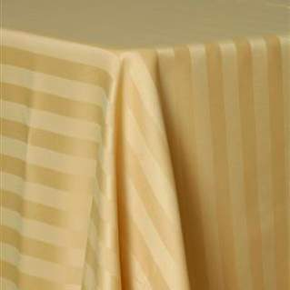 "Poly Satin Stripe Gold 90"" Square"