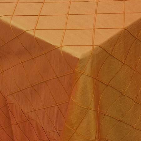 Orange Pintuck Tie/Sash