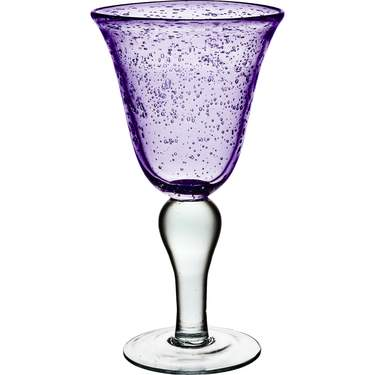 Iris Plum Bubble Water Goblet