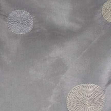 """Taffeta Circle Silver 90"""" Square"""