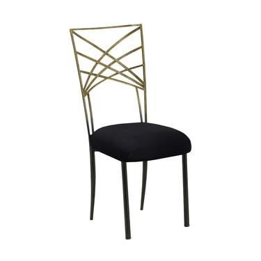 Chameleon Fanfare Antique Two-Tone Gold Chair