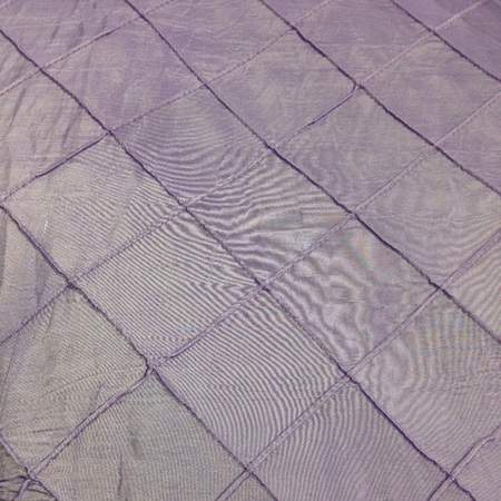 """Pintuck 2"""" Lilac 120"""" Round"""