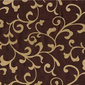 "Delano Scroll Chocolate & Gold 120"" Round"