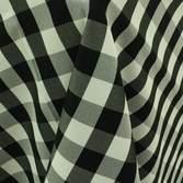 """Poly Check Black & White 60"""" x 120"""" Linen"""