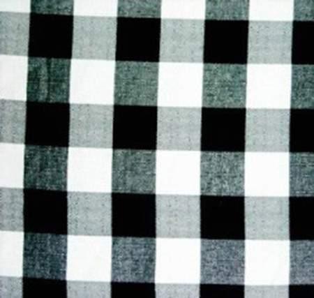"Poly Square Check Black & White 72"""