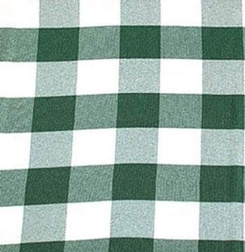 "Poly Check Hunter Green & White 90"" Square"