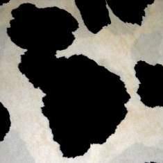 "Cow Black 90"" Square"