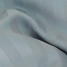 "Poly Satin Stripe Silver 132"" Round"