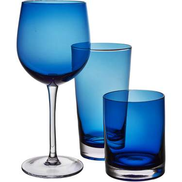 Contempo Blue Glassware Pattern