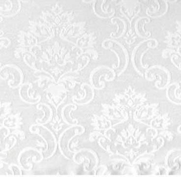 "Palazzo Medallion White 90"" Square"