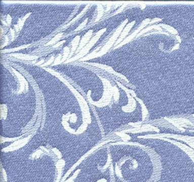 """Gabrielle Periwinkle Ivory 132"""" Round"""