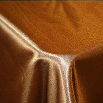 Ballroom Satin Antique Gold Chair Cover