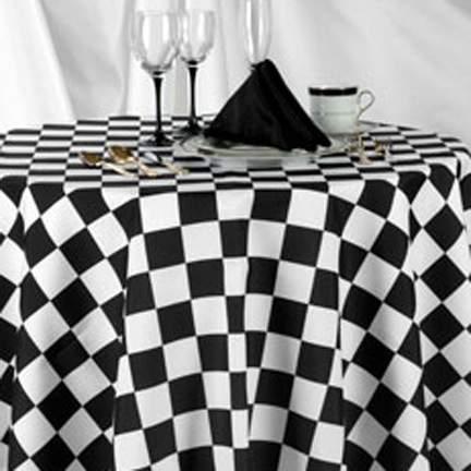 Racing Check Black & White