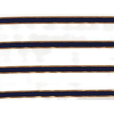 "Chenille Stripe Navy Blue 90"" Square"