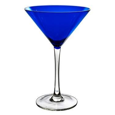 Cobalt Blue Martini Glass