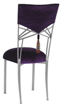 Silver Fanfare Chair with Eggplant Velvet Hat and Tassel