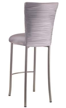 Chloe Silver Stretch Knit Barstool Cover on Silver Legs