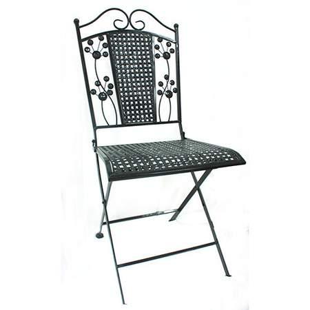 Café Chair w/ Flower Design