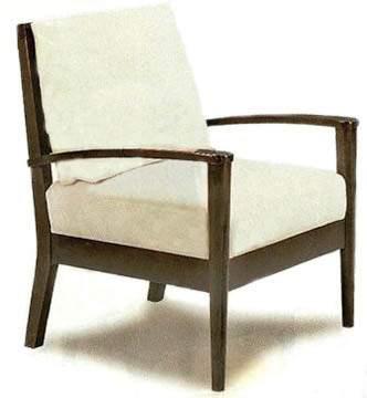 Tan Dark Wood Cushion