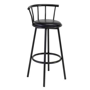 Black Metal Barstool w/ Seat & Swivel
