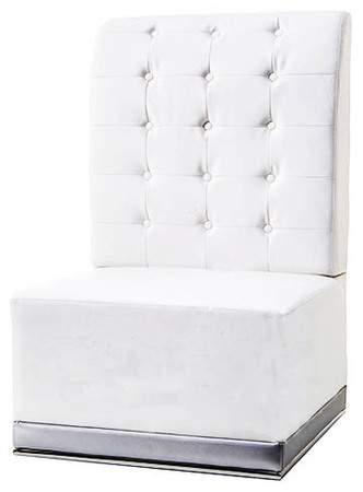 White Modern Luna Chair