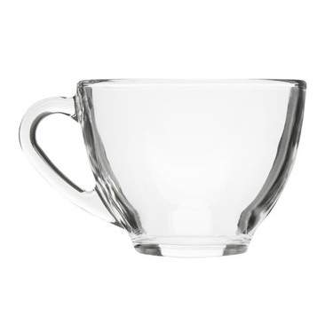 Clear Glass Coffee Cup 6oz
