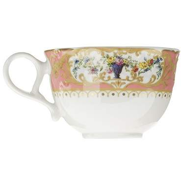 Sevres Antique Peach Coffee Cup
