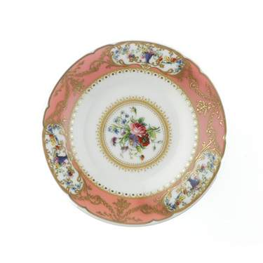 Sevres Antique Peach Demitasse Saucer