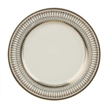 """Gothic Silver Plate 10.5"""""""