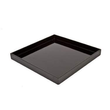 Square Black Melamine Tray 13""