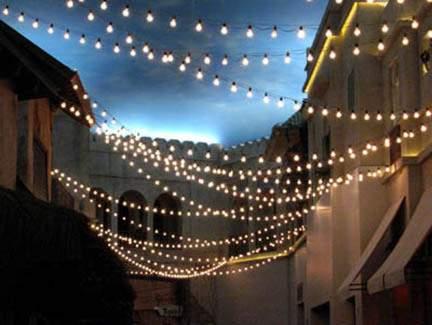 White Bistro Light Strand 55'