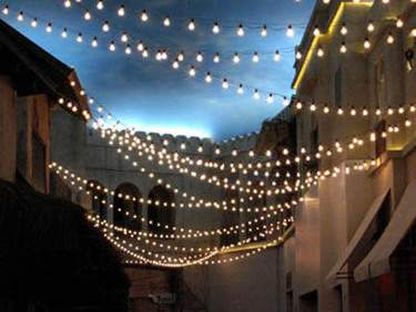 White Bistro Light Strand 55'