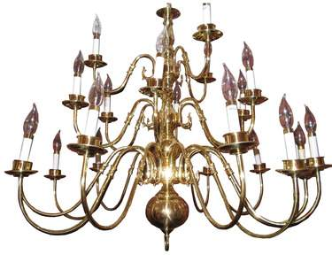Brass With Black Chandelier