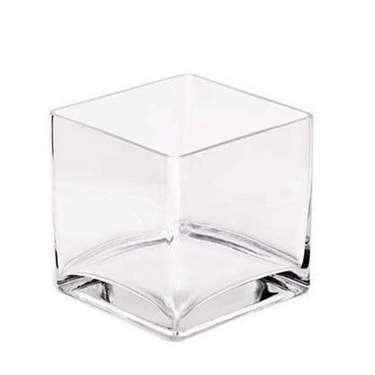 Square Glass Vase