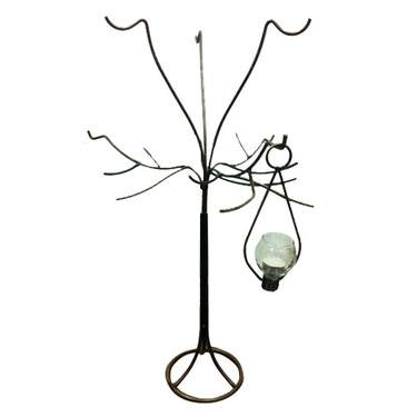 Hanging Iron Teardrop Tree