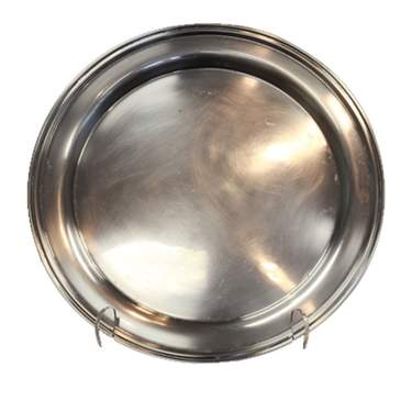Silver Round Gallery Tray 15""