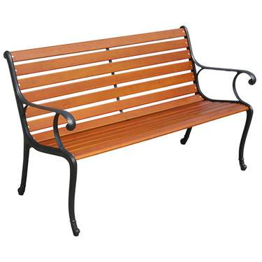 Park Bench W/Iron Frame
