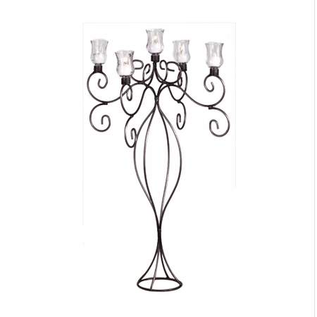5 Branch Iron Candelabra