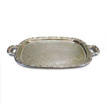 "Silver Tray w/ Handles 13"""
