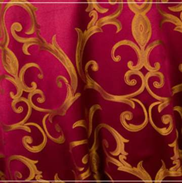 "Chopin Burgundy & Gold 90"" Square"
