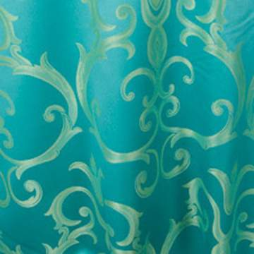 "Chopin Turquoise & Gold 90"" Square"