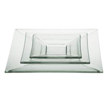 Clear Glass Square Pattern