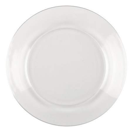 """Clear Round Dinner Plate 10"""""""
