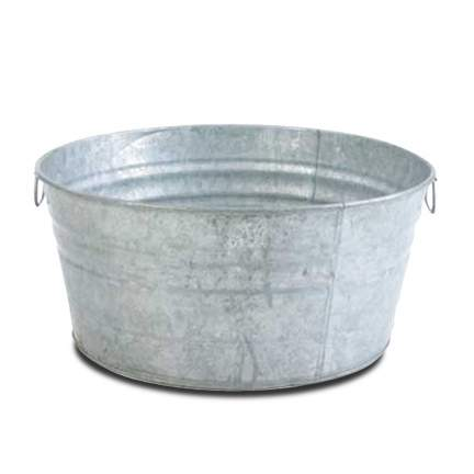Round Galvanized Beverage Tub 28gal