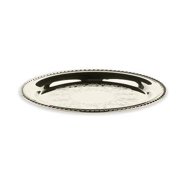 Silver Round Tray 10""