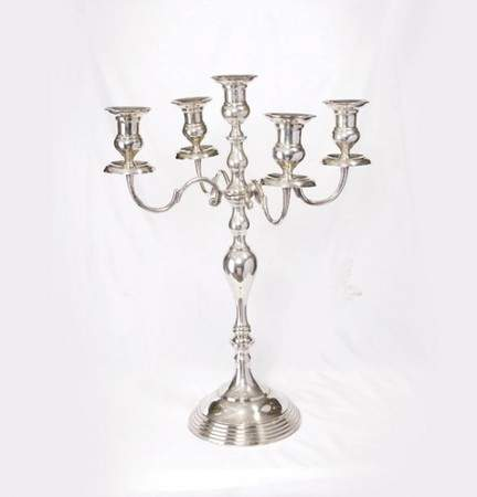 5 Branch Silver Candelabra