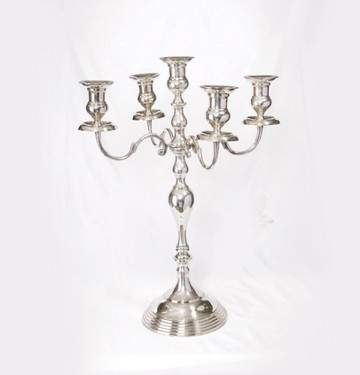 5 Branch Silverplated Candelabra