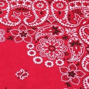 "Bandana Red 90"" Square"